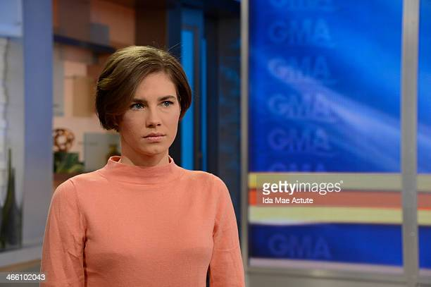 During an exclusive interview with Robin Roberts, Amanda Knox vowed to fight murder conviction, on GOOD MORNING AMERICA, 1/31/14, airing on the Walt...