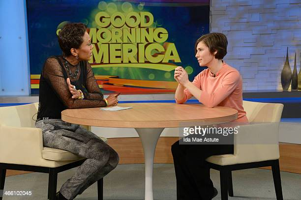 AMERICA During an exclusive interview with Robin Roberts Amanda Knox vowed to fight murder conviction on GOOD MORNING AMERICA 1/31/14 airing on the...