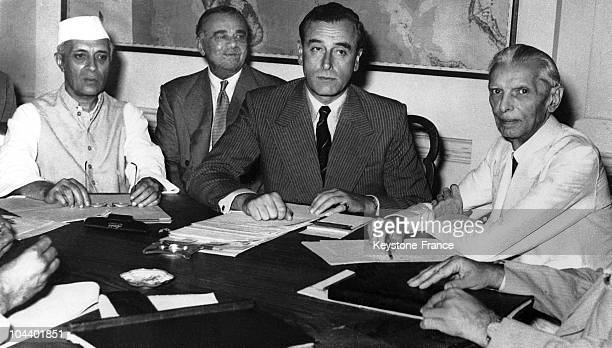 During an historic conference in New Delhi Lord MOUNTBATTEN and the main Indian leaders agree upon the partition of India according to a British plan...