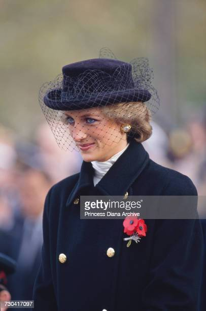 During an official visit to France the Princess of Wales attends a service commemorating the 70th anniversary of the armistice at the Arc de Triomphe...