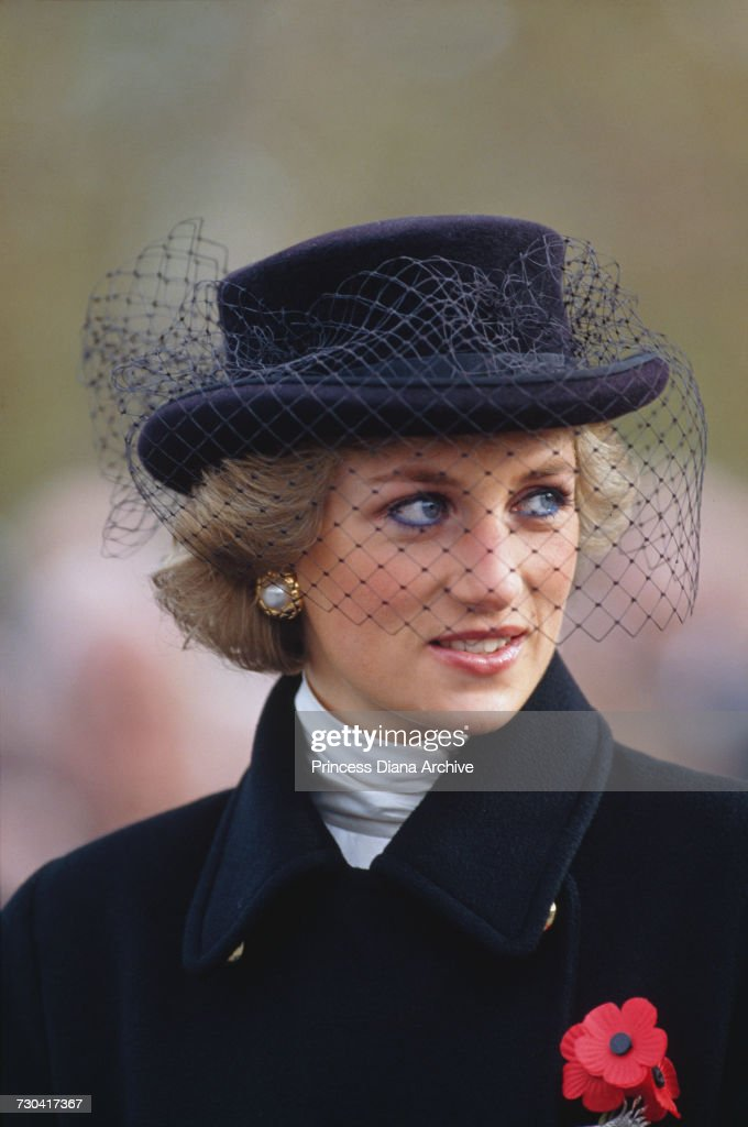 Diana At Armistice Service : News Photo