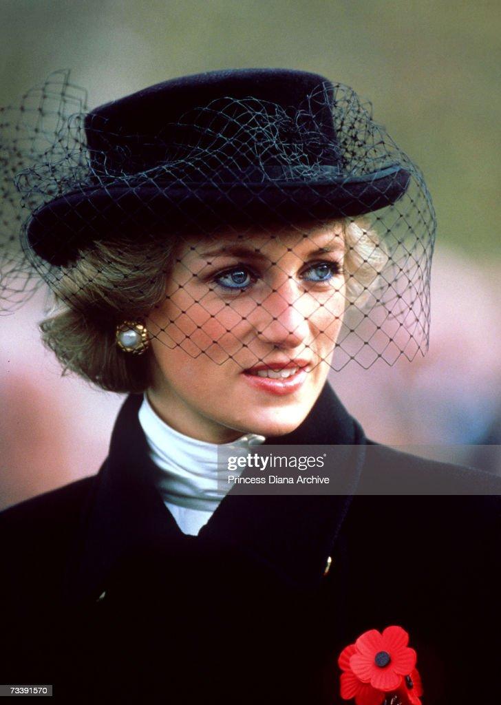 Diana At Armistice Service : News Photo