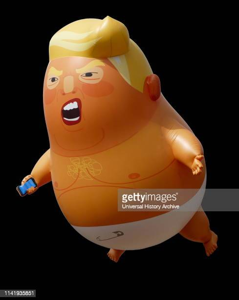 During an official visit to the United Kingdom by President of the United States Donald Trump an inflatable caricature of Trump was flown in protest...