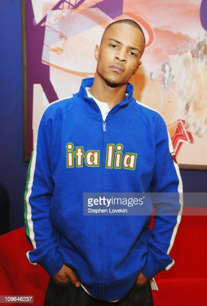 TI during Armor For Sleep 10 Years and TI Visit MTV2 March 24 2006 at MTV Studios in New York City NY United States