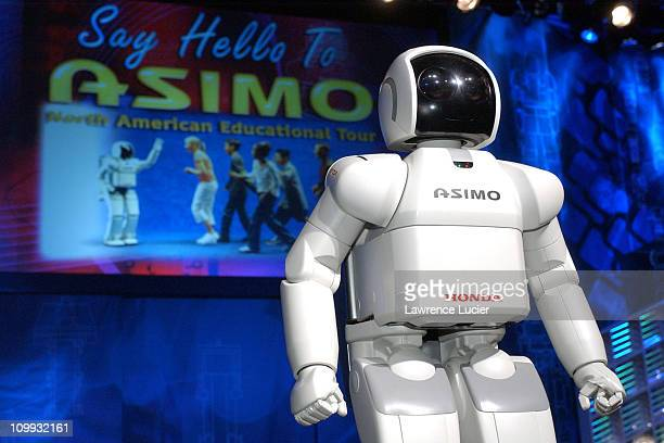 During ASIMO Robot Begins US Tour at Sheraton in New York, New York, United States.