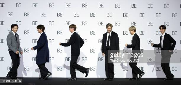 During BTS's New Album 'BE ' Release Press Conference at Dongdaemun Design Plaza on November 20, 2020 in Seoul, South Korea.