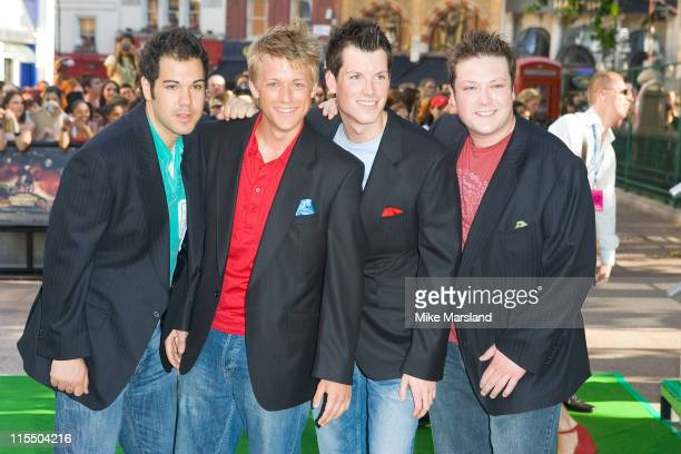G4 during Charlie and the Chocolate Factory London Premiere Arrivals at Odeon Leicester Square in London Great Britain