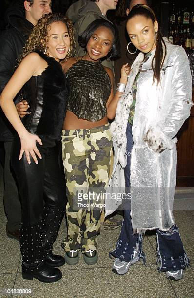 3LW during Cosmopolitan launch of Shoshanna swimwear line at Bowery Bar in New York City New York United States