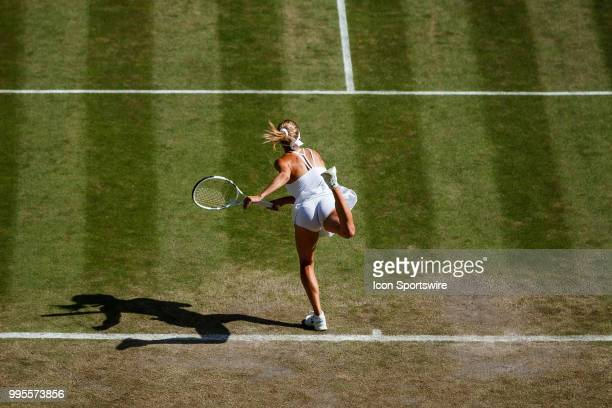 during day eight match of the 2018 Wimbledon on July 10 at All England Lawn Tennis and Croquet Club in LondonEngland