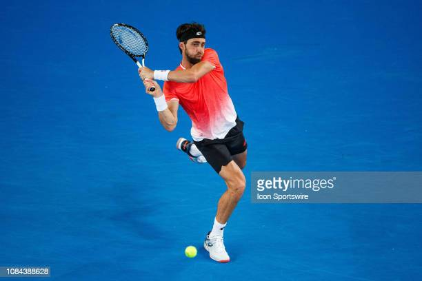 during day five match of the 2019 Australian Open on January 18 2019 at Melbourne Park Tennis Centre Melbourne Australia