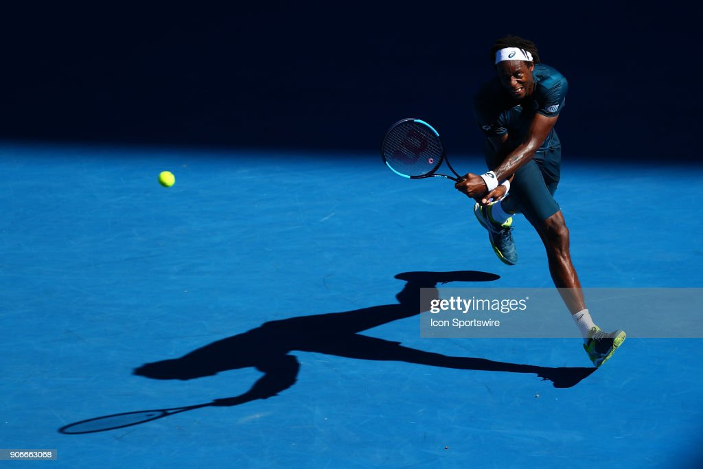 during day four match of the 2018 Australian Open on January 18, 2018 at Melbourne Park Tennis Centre Melbourne, Australia