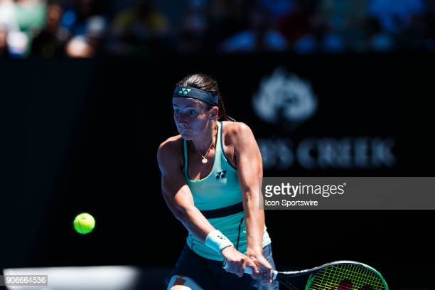 during day four match of the 2018 Australian Open on January 18 2018 at Melbourne Park Tennis Centre Melbourne Australia