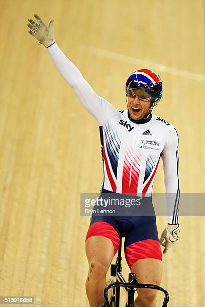 During day four of the UCI Track Cycling World Championships at Lee Valley Velopark Velodrome on March 5, 2016 in London, England.