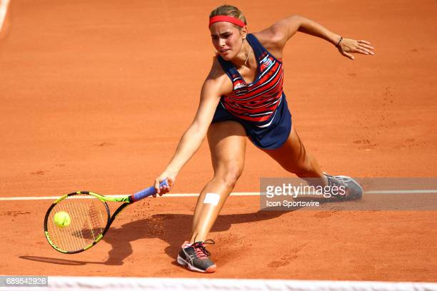 during day one match of the 2017 French Open on May 28 at the Stade RolandGarros in Paris France