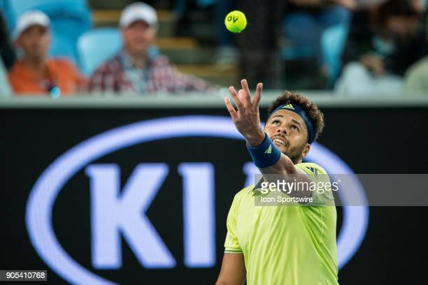 during day one match of the 2018 Australian Open on January 15 2018 at Melbourne Park Tennis Centre in Melbourne Australia