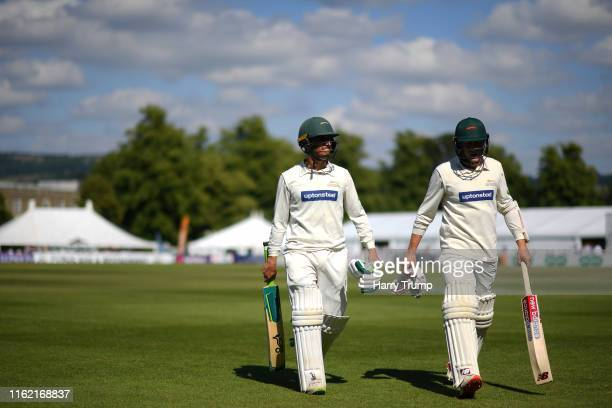 During Day One of the Specsavers County Championship Division Two match between Gloucestershire and Leicestershire at Cheltenham College on July 15,...