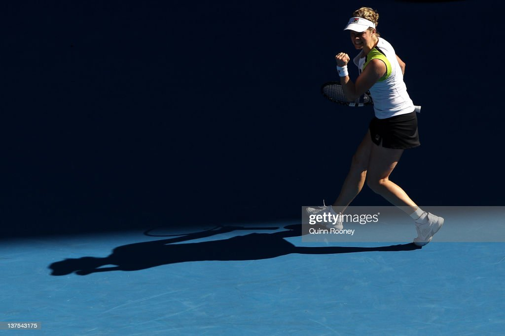 during day seven of the 2012 Australian Open at Melbourne Park on January 22, 2012 in Melbourne, Australia.