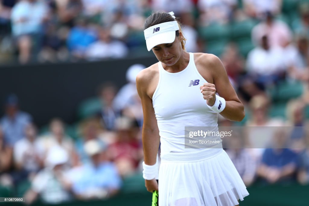 during day six match of the 2017 Wimbledon on July 8, 2017, at All England Lawn Tennis and Croquet Club in London,England.
