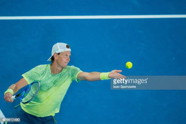 during day ten match of the 2018 Australian Open on January 24 2018 at Melbourne Park Tennis Centre Melbourne Australia