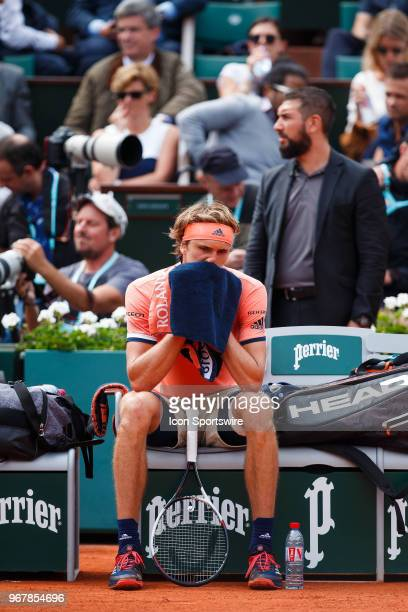during day ten match of the 2018 French Open 2018 on June 5 at Stade RolandGarros in Paris France