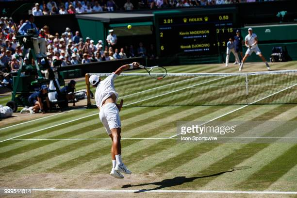 during day thirteen match of the 2018 Wimbledon on July 15 at All England Lawn Tennis and Croquet Club in LondonEngland