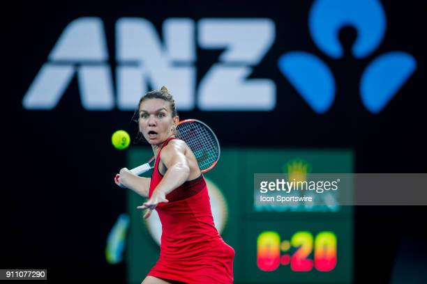 during day thirteen match play of the 2018 Australian Open on January 27 2018 at Melbourne Park Tennis Centre Melbourne Australia