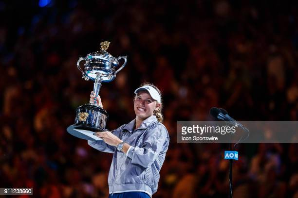 During day thirteen match play of the 2018 Australian Open on January 27, 2018 at Melbourne Park Tennis Centre Melbourne, Australia