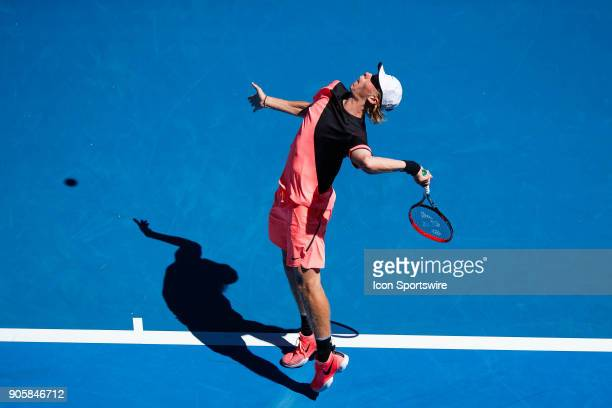 during day three match of the 2018 Australian Open on January 17 2018 at Melbourne Park Tennis Centre Melbourne Australia