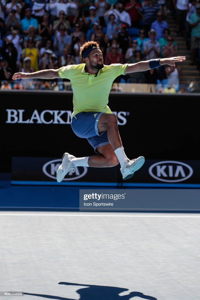 during day three match of the 2018 Australian Open on January 17, 2018 at Melbourne Park Tennis Centre Melbourne, Australia