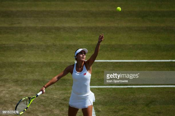 during day three match of the 2018 Wimbledon Championships on July 4 at All England Lawn Tennis and Croquet Club in London England