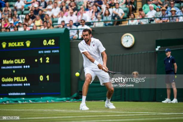 during day three match of the 2018 Wimbledon on July 4 at All England Lawn Tennis and Croquet Club in LondonEngland