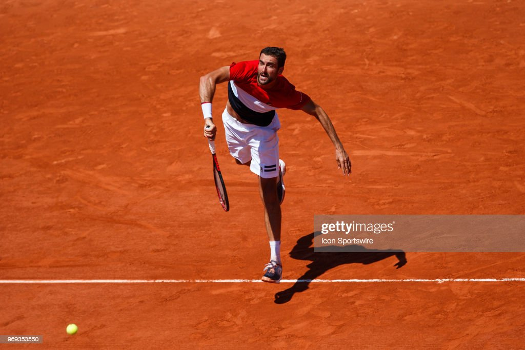 during day twelve match of the 2018 French Open 2018 on June 7, 2018, at Stade Roland-Garros in Paris, France.