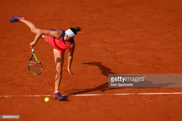 during day two match of the 2017 French Open on May 29 at Stade RolandGarros in Paris France