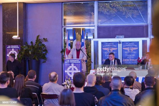 During european nationalist meeting Jerome Bourbon Rivarol magazine mangerYvan Benedetti ex National Front party and Alexandre Gabriac Jeunesses...