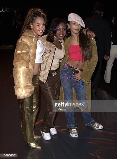 3LW during Fashion Week Luca Luca Fall/Winter 2001 Collection at Bryant Park in New York City New York United States