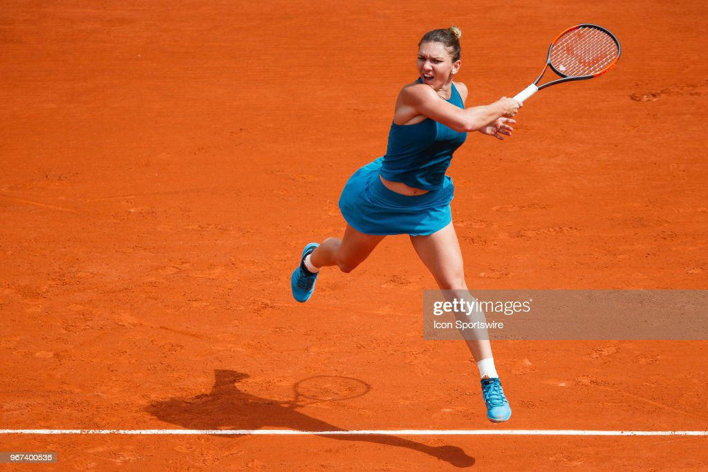 during French Open on June 04, 2018, at Stade Roland-Garros in Paris, France.