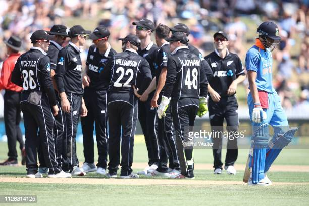 during game four of the One Day International series between New Zealand and India at Seddon Park on January 31 2019 in Hamilton New Zealand