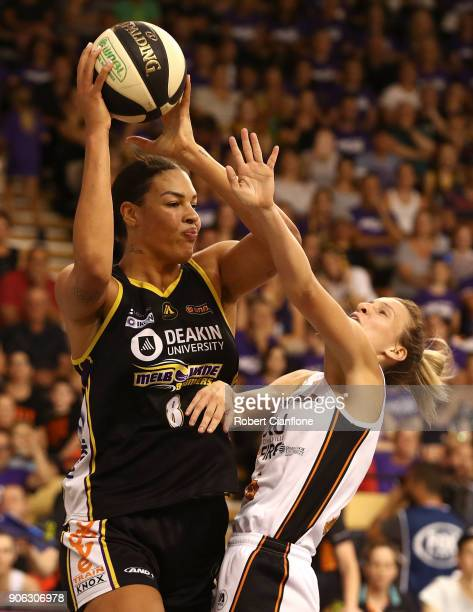 during game two of the WNBL Grand Final series between the Melbourne Boomers and the Townsville Fire at the State Basketball Centre on January 18...