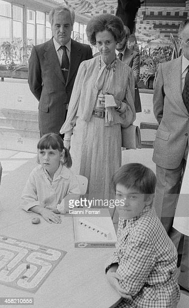 During her official trip to Spain the Belgian Queen Fabiola visit a children's hospital 29th September 1978 Madrid Spain