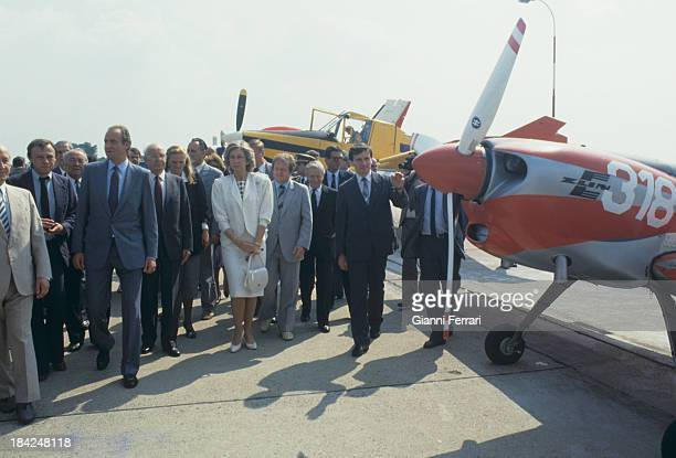 During his official visit to Czechoslovakia the Spanish Kings Juan Carlos and Sofia visits an aircraft factory 10th July 1987 Prague Czechoslovakia