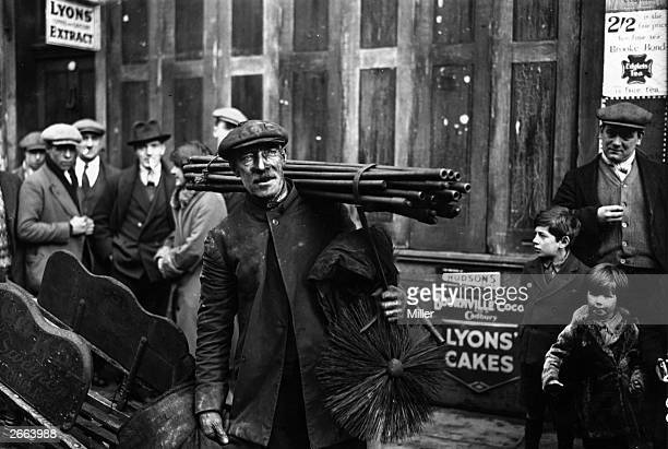 During his year as Mayor of Bethnal Green Councillor T Brooks still intends to clean chimneys