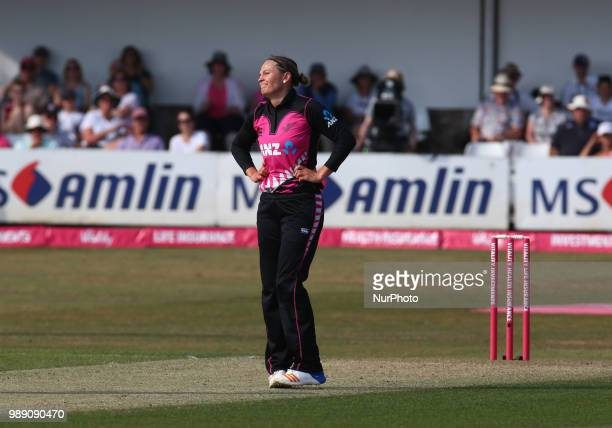 during International Twenty20 Final match between England Women and New Zealand Women at The Cloudfm County Ground Chelmsford England on 01 July 2018
