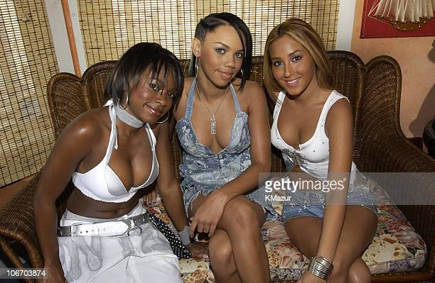 3LW during Kylie Minogue and 3LW Visit MTV's 'TRL All Access Week' at MTV Beach House July 17 2002 at MTV Beach House in Seaside Heights New Jersey...