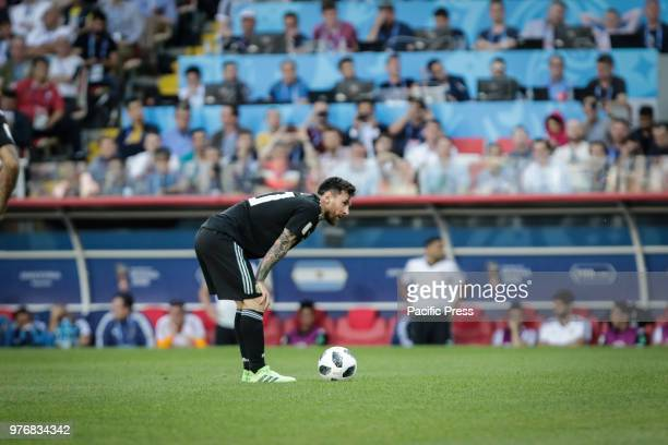 MESSI during match between Argentina and Iceland valid for the first round of Group D of the 2018 World Cup held at the Spartak Stadium in Moscow...