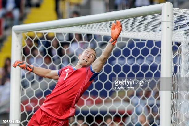 HALLDORSSON during match between Argentina and Iceland valid for the first round of Group D of the 2018 World Cup held at the Spartak Stadium in...