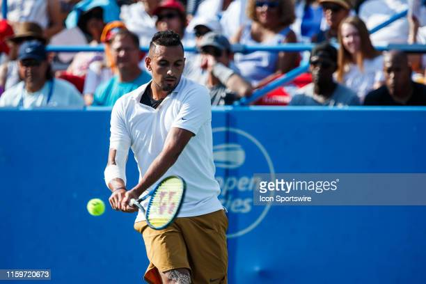 During men's singles finals match of the 2019 Citi Open on August 4 ,2019 at Rock Creek Park Tennis Center in Washington D.C.