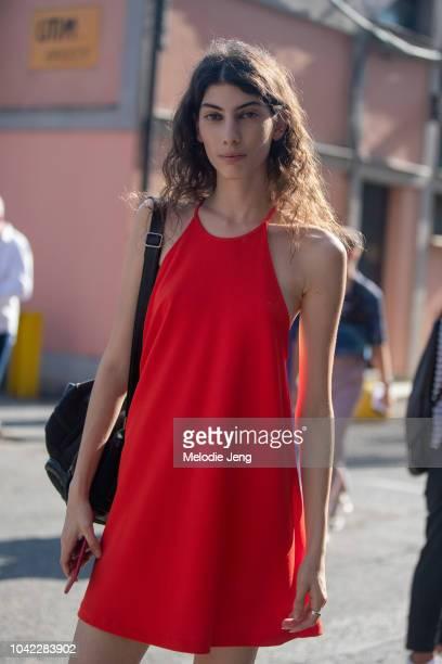 during Milan Fashion Week Spring/Summer 2019 on September 21 2018 in Milan Italy