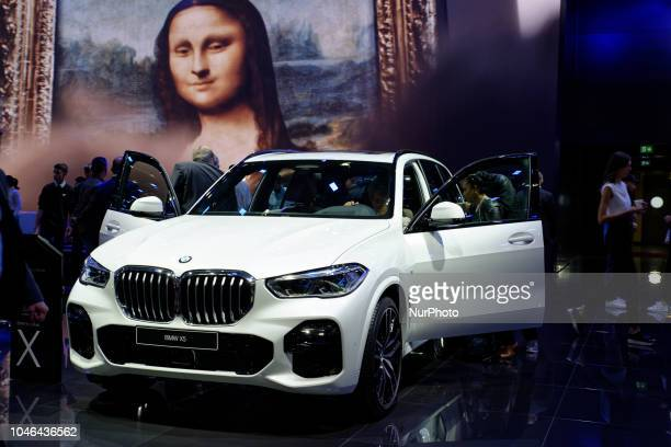BMW X5 during Mondial Paris Motor Show in Paris France on 4 October 20178 The Mondial Paris Motor Show Paris 2018 evolves with the new technologies...