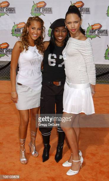 3LW during Nickelodeon's 16th Annual Kids' Choice Awards 2003 Arrivals at Barker Hanger in Santa Monica California United States