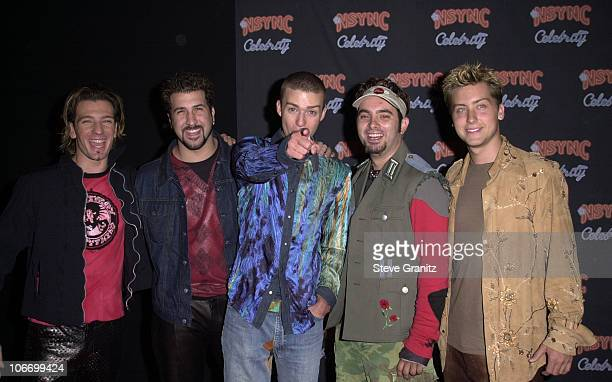 NSYNC during N'SYNC And Jive Records Host A Record Release Party For Their New Album Celebrity at Moomba in West Hollywood California United States